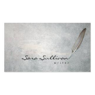 Writer Quill Pen Grunge Texture BusinessCard Business Card Template