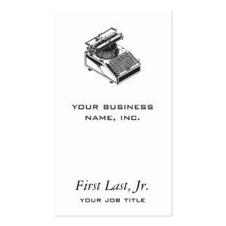 Writer -Type Writing Machine - Typewriter Business Card Template
