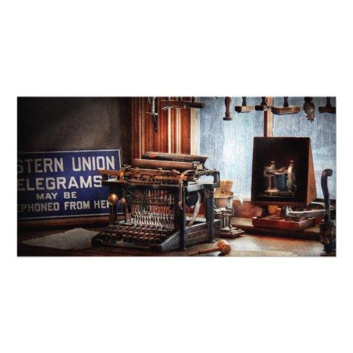 Writer - Typewriter - The aspiring writer Custom Photo Card