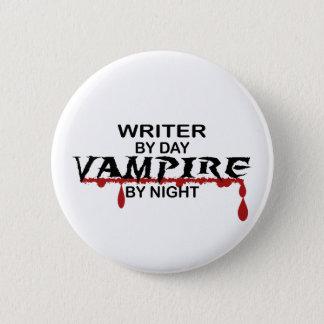 Writer Vampire by Night 6 Cm Round Badge