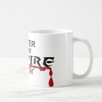 Writer Vampire by Night Coffee Mug
