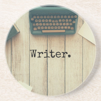 Writer writing desk retro typewriter coaster