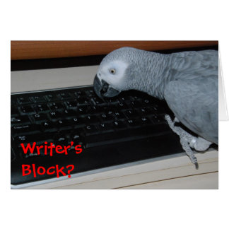 Writer's Block Card