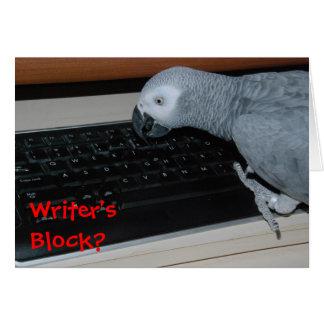 Writer's Block Greeting Card
