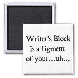 Writer's block square magnet