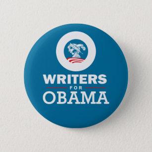 Writers for Obama 6 Cm Round Badge