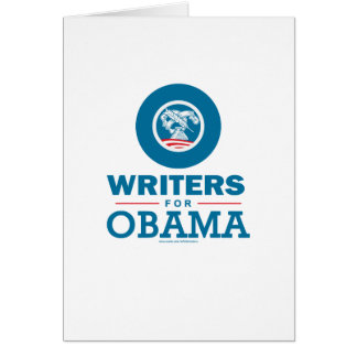 Writers for Obama Card