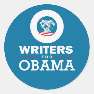 Writers for Obama Round Sticker