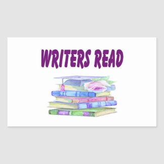 Writers Read Collection Rectangular Stickers