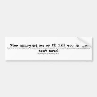 Writers Revenge Bumper Sticker