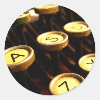 Writer's Way Round Sticker