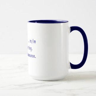 Writing a romance mug