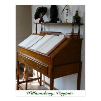 Writing Desk at Colonial Williamsburg Postcard