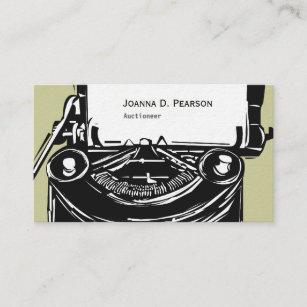 Old typewriter business cards zazzle au writing history writer old black typewriter business card reheart Choice Image