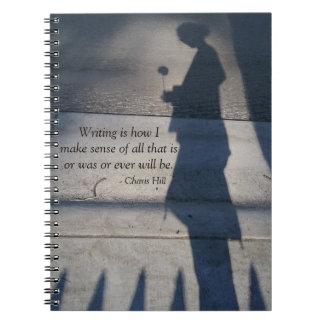 """Writing is how I make sense"" notebook"