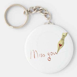 Writing Miss You Keychain