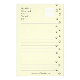 Writing Paper for Cat Lovers Personalized Stationery