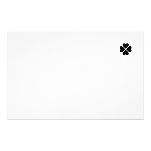 Writing paper note paper clover sheet heart black customized stationery