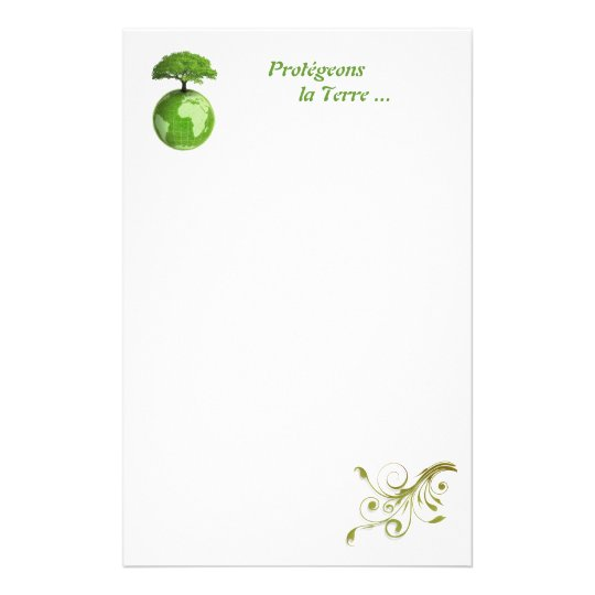 writing paper protection of planet custom stationery