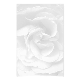 Writing paper with rose bloom stationery design