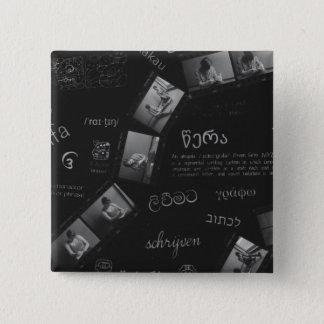 Writing Photogram 15 Cm Square Badge
