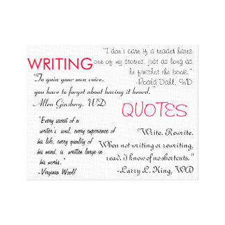 Writing Quotes Canvas Gallery Wrapped Canvas