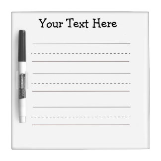 Writing Template Dry Erase Dry Erase Board