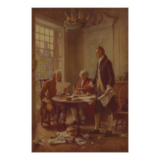 Writing the Declaration of Independence by Ferris Posters