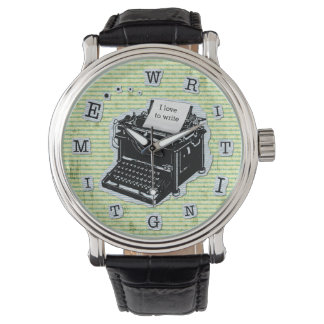 Writing Time Typewriter for Writers Custom Watch