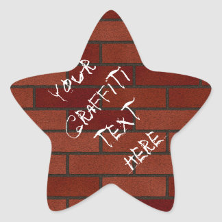 Writings on the brick wall star stickers