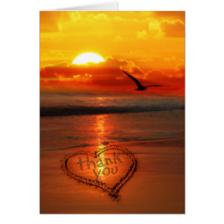 Written in the Sand on the Beach Sunset Card