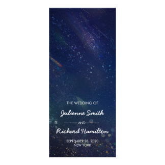 Written in the Stars | Galaxy Wedding Program Rack Card