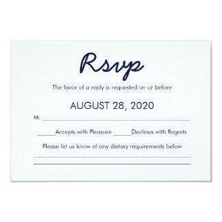 Written in the Stars | Galaxy Wedding RSVP Card