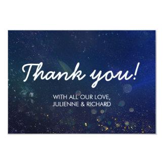 "Written in the Stars | Galaxy Wedding ""Thank you"" Card"