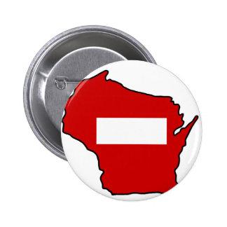 wrong way Wisconsin 6 Cm Round Badge