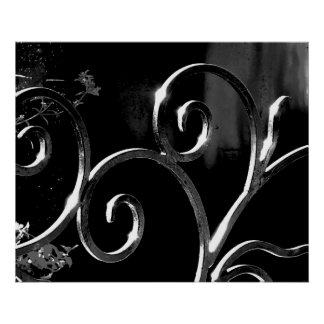 Wrought Iron Decor Poster