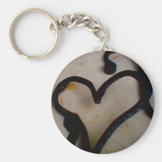 Wrought Iron Heart Key Ring