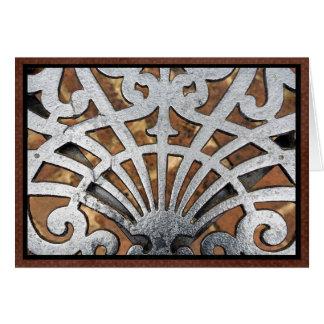 Wrought iron pattern card