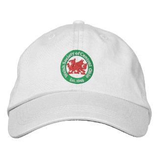 WSCO Logo Ball Cap - White Embroidered Baseball Caps