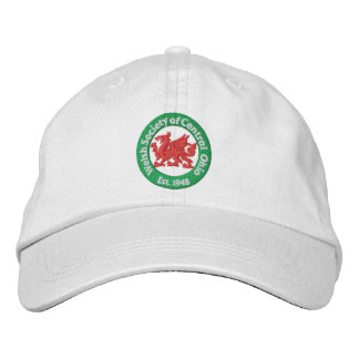 WSCO Logo Ball Cap - White Embroidered Hats