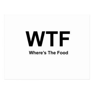 WT F, black fonts Postcard