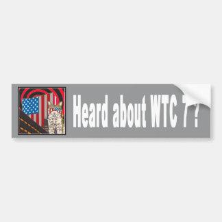 """""""WTC 7"""" Bumper Sticker"""