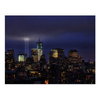 WTC Tribute in Light - 9/11/2011 at twiight Postcard