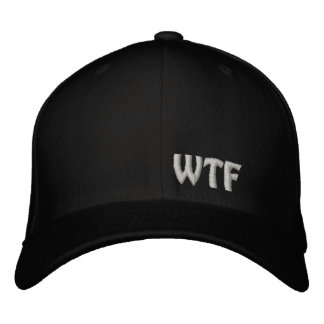 WTF Embroidered Baseball Hat Flexfit Wool Cap