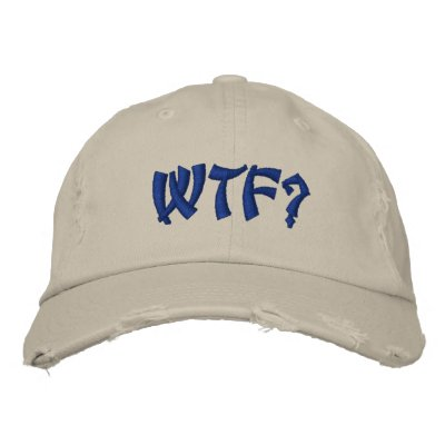 WTF? EMBROIDERED HAT