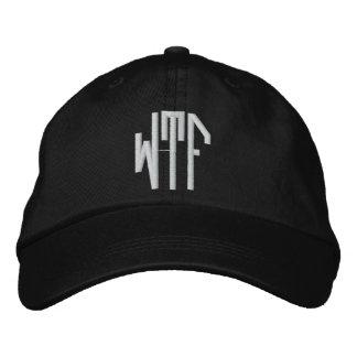 WTF lg oct adj blk ht Embroidered Hat