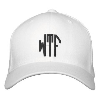 WTF lg oct adj wht ht Embroidered Hats