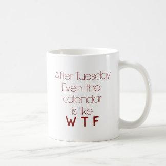WTF Office Humor Basic White Mug