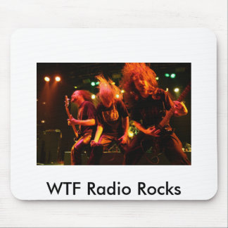 WTF Radio Rocks mouse pad