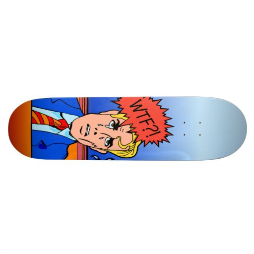 WTF retro skateboard